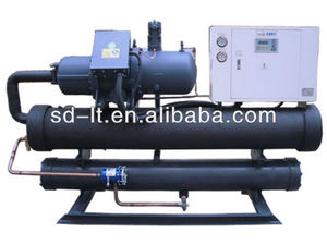 Energy saving surface treatment screw type water chiller