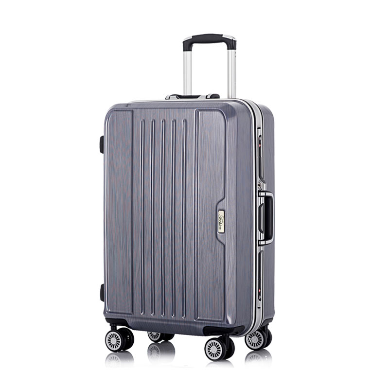 abs pc hard shell aluminium frame travel trolley rolling luggage bag