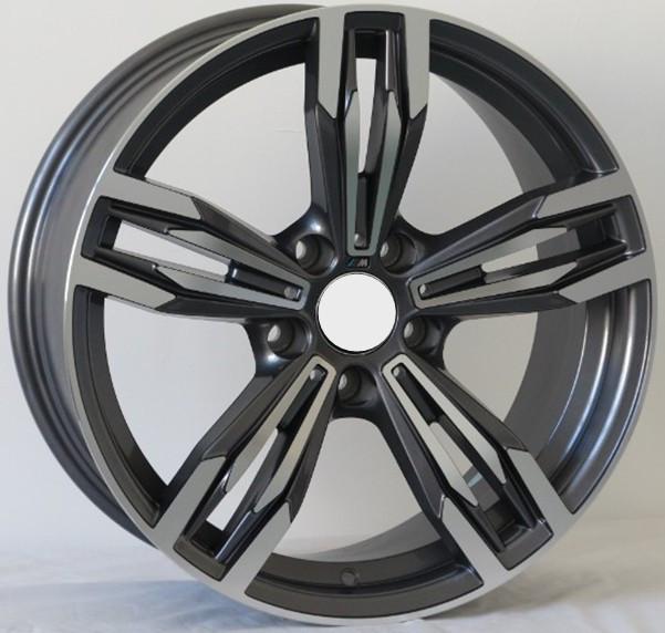 Negro mate rueda de aleación de coche para cualquier coche