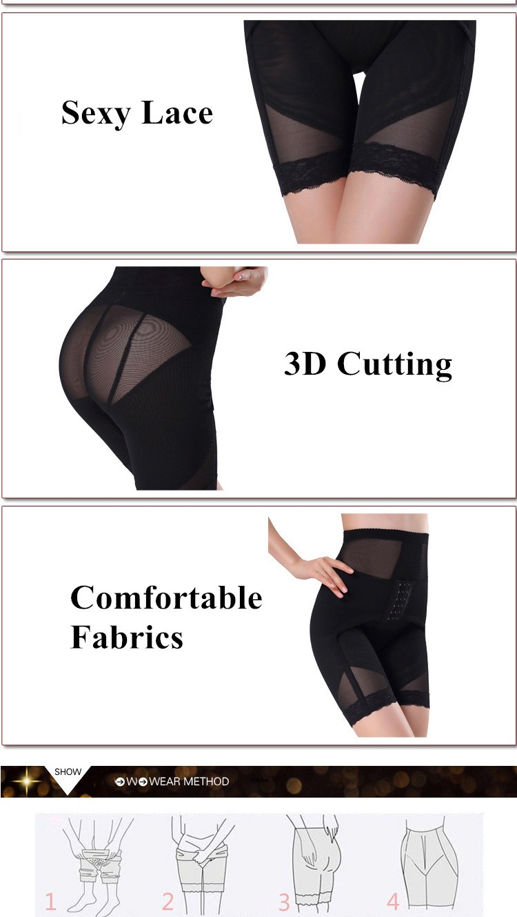 Sexy Lace Elastic Women Postpartum Butt Lifter Pants Slimming Body Shaper Pants