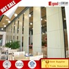 2017 hot sale sliding folding partition wall with double leaf pass door in lecture room