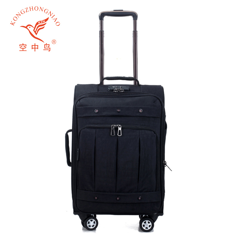 20 24 28 inch fabric luggage trolley suitcase