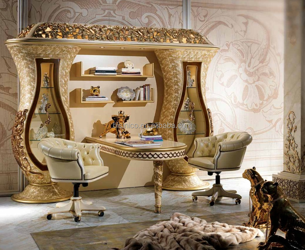 Franse barok stijl console tafel, antieke metalen frame met grote ...