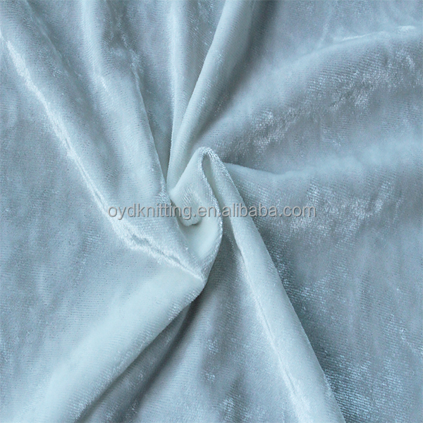 Online Shop China Shiny Pleat White Iced Crushed Polyester Stretch Fabric