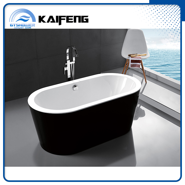 Best Sale Black Small Freestanding Acrylic Bathtub View