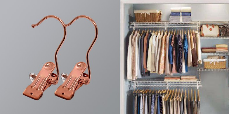 Rose Gold Copper Brass Laundry Hang Clips Boots Gloves Hanger