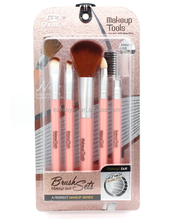 Professionelle beauty <span class=keywords><strong>make-up</strong></span>-tool 5 stücke blister verpackung <span class=keywords><strong>make-up</strong></span> <span class=keywords><strong>pinsel</strong></span> set
