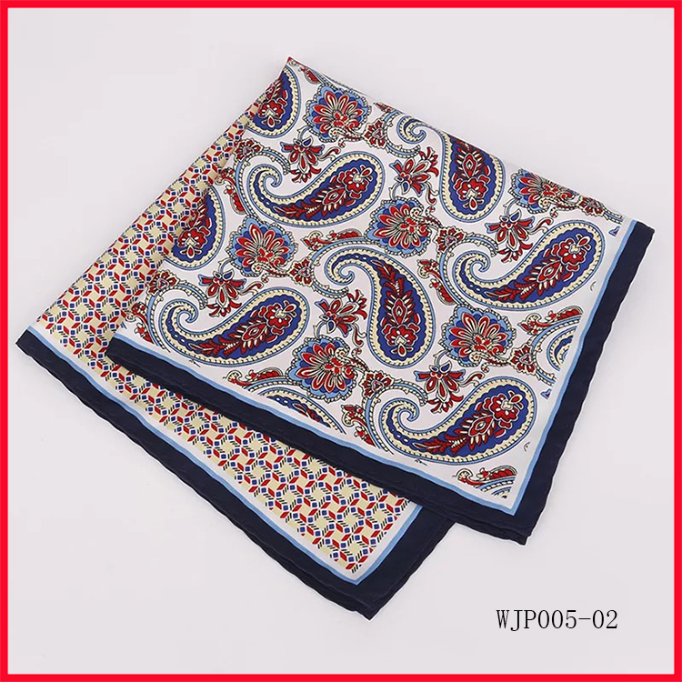 Many Paisley Patterned Print Pocket Square Groom Handkerchief Gift
