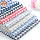 50% linen 50 % cotton check table fabric in stock