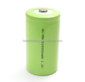 Ni-Mh battery 10000mAh 1.2V NiMH D size D10000 n-mh battery cell with tab