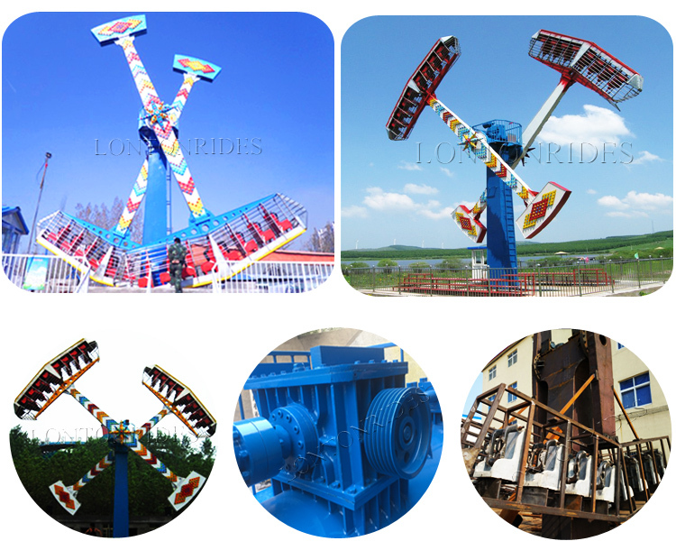 China Amusement Theme Park Games Funfair Outdoor Kamikaze Thrill Extreme Rides for sale