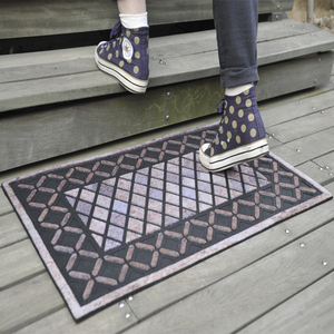 most popular easy wash recycle rubber entrance mat