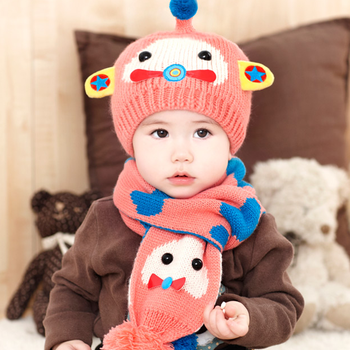 61b4fc499b44f Tsw6007 Korean Baby Boy Baby Girl Cute Winter Hats And Scarves Set ...