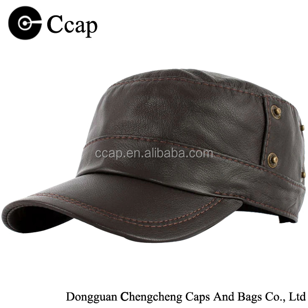 high quality wool leather winter hat