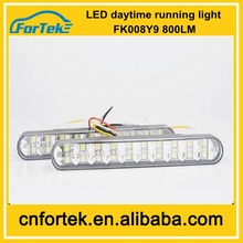 New arrival !Top Quality Low Price 12v 14W LED Daytime Running Light with turning switch FK -008-Y8 Large Stock