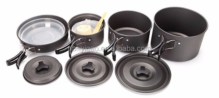 Outdoors Cookware Mess Kit For Camping 11 Pc Cook Set