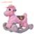 China factory cheap price hot selling plastic 4 wheels baby walker rocking horse