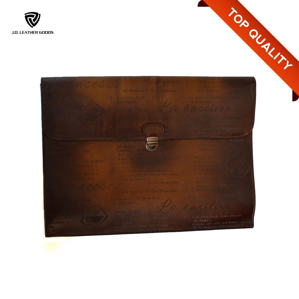 Brush-Off Effect Genuine Leather Business Men Wholesale Briefcase/Brief Case
