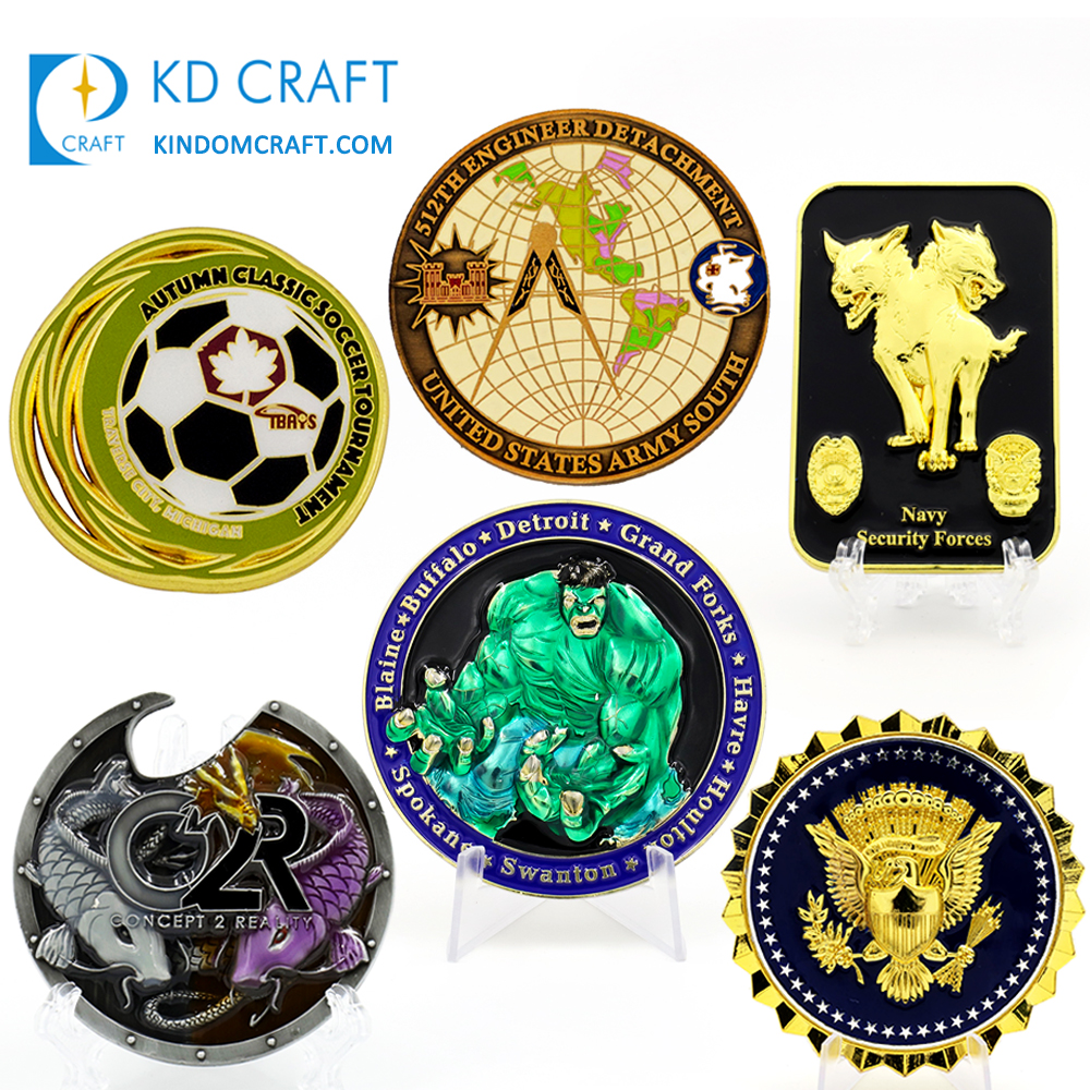 Gratis sample metal sport golf flesopener souvenir vrijmetselaars militaire army navy security 3d emaille custom challenge coin