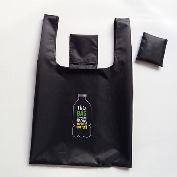 RPET Nylon Reusable Polyester foldable shopping bag for promotional
