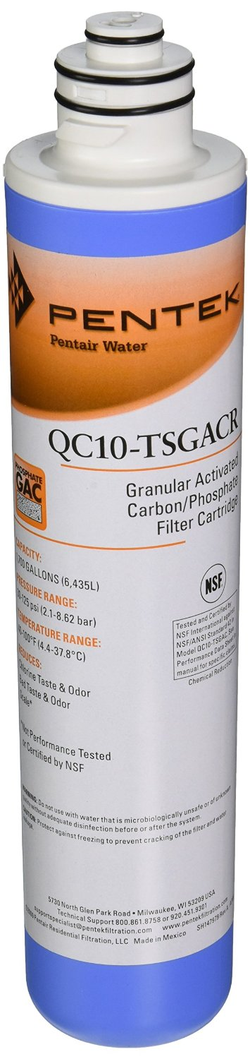 Pentek QC10-TSGACR Undersink Quick-Change Replacement Filter Cartridge