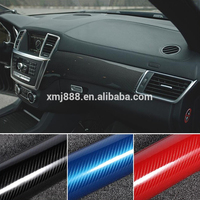 High glossy Car wrap sticker 1.52*20M removeable 5d carbon fiber vinyl for car amateur