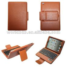 Bluetooth Keyboard Leather Cover Case for ipad mini