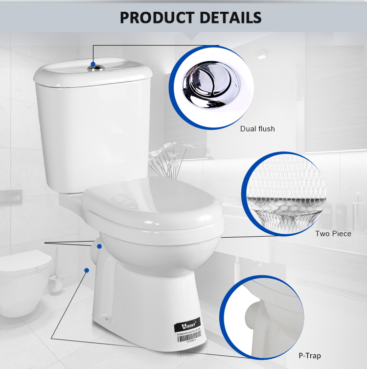 Wall Mounted Tank Type Toilet