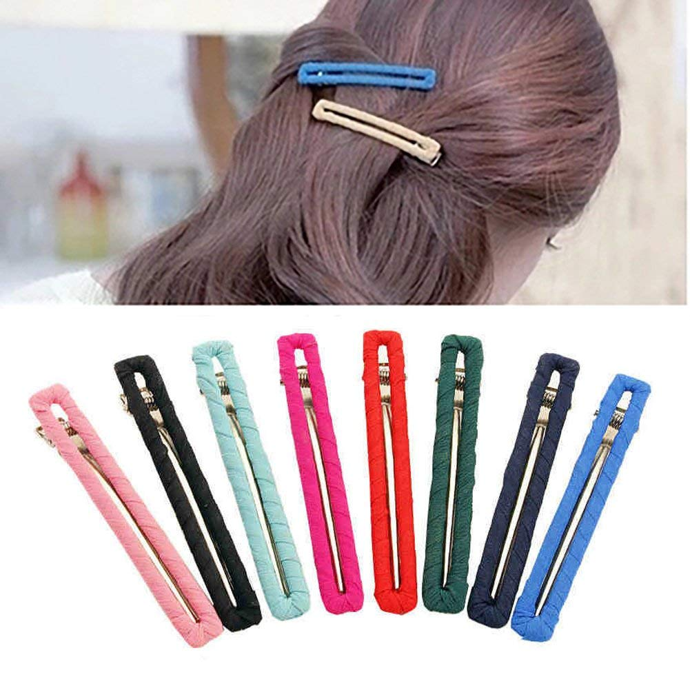 New Women Japanese Acetate Long Colorful Barrettes Elegant Hair Clips Headbands Lady Metal Bow Hairpins Hair Accessories Apparel Accessories