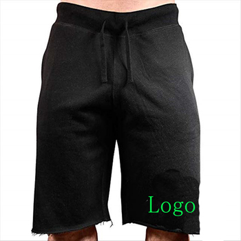 Wholesale cotton&polyester mens Gym Sweat Running Fleece Shorts
