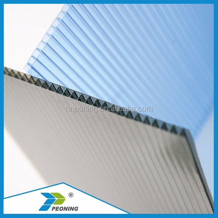 ten years warrenty waterproof plastic polycarbonate pc hollow sheet for greenhouse/roofs/walls