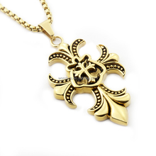 Baroque Cross Necklace Alibaba Wholesale Necklace Gun Black Metal Jewellery Gold Plated Stainless Steel Bijoux