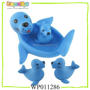 4pcs pvc animal toys for bathroom playing with sound bath toys pvc adult bath toys