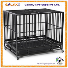 wholesale pvc coated chain link dog kennel; cages; large steel dog cage