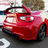 Car-styling Unpainted black FRP Style GT 86 BRZ Rear Trunk wing spoiler For Subaru BRZ Toyota 86 GT86