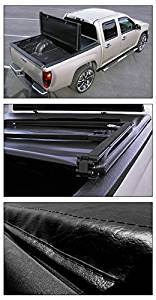 Topline Autopart Tri-Fold Soft Tonneau Cover 04-07 Chevy Silverado/Gmc Sierra Crew Cab 5.8 Ft Bed