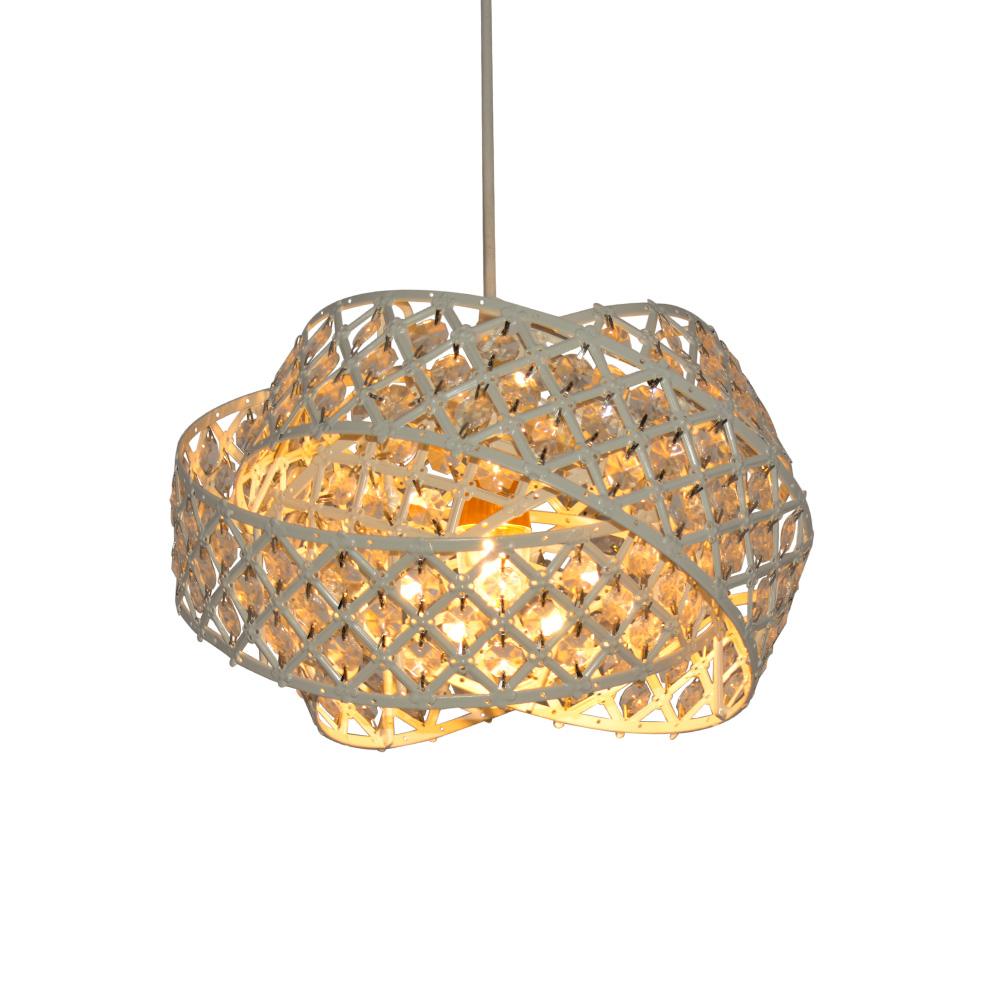 Modern acrylic crystal drops decorative suspending pendant light