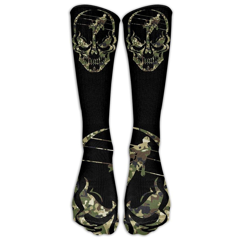 Lineman Skull Electrician Camo Men's And Women's Running Socks Built Strong For Outdoor Sports