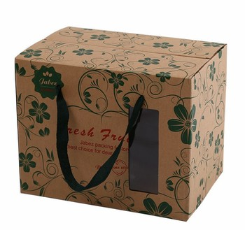 Custom offset food grade environmental healthy thickened fruit gift kraft paper boxes