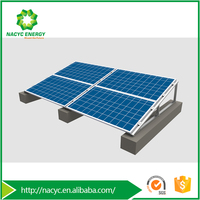 Versatile Rail-free Solar Panel Mounting Structure Venus II for Roof & Ground