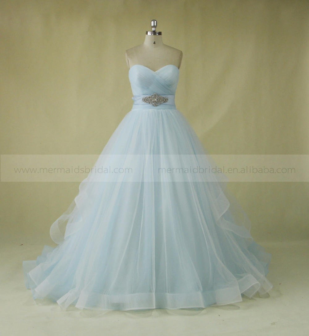 Light Blue And White Wedding Dress Wholesale, Wedding Dress ...