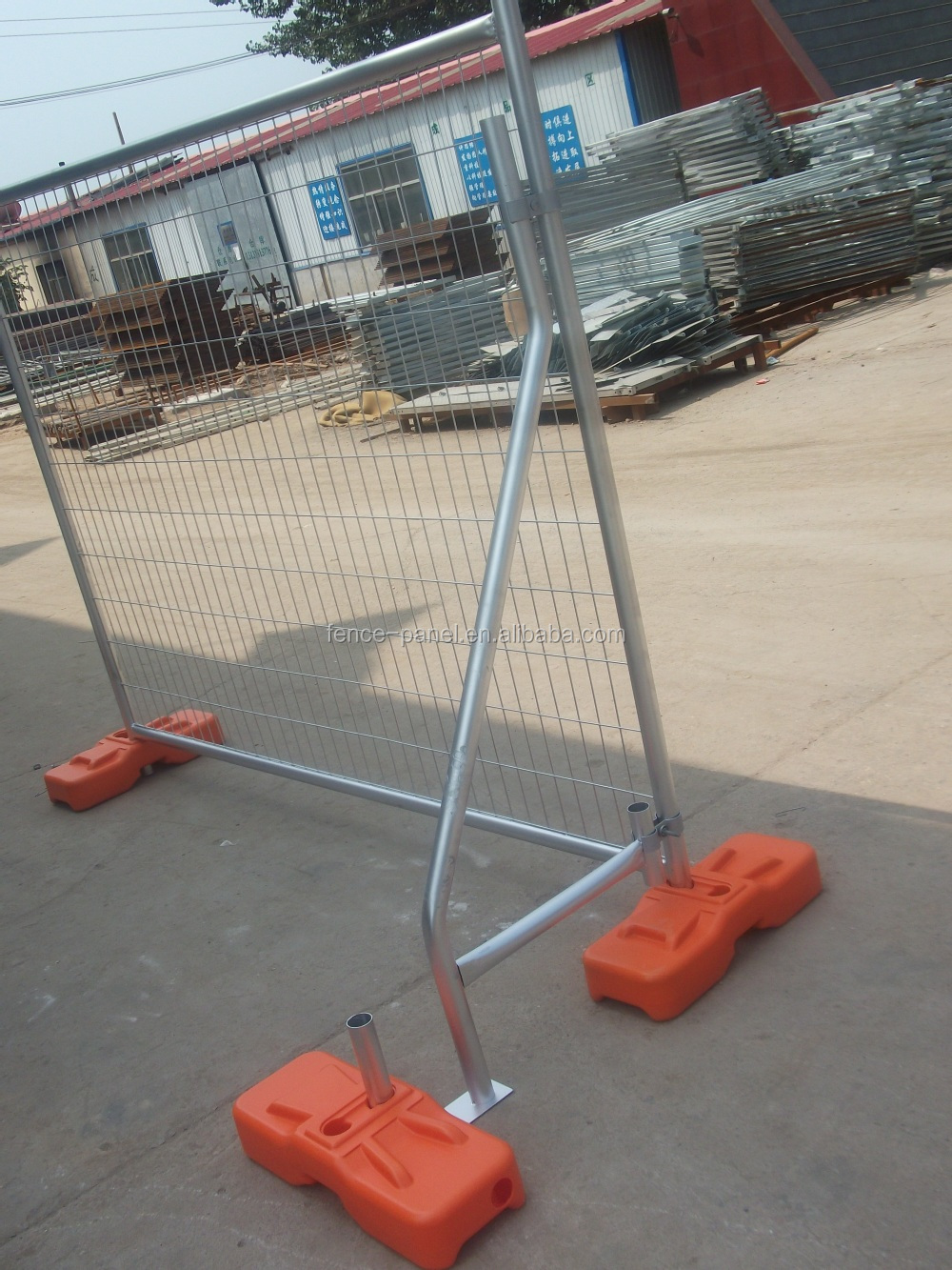 Galvanized temporary construction fence temporary metal fence galvanized temporary construction fence temporary metal fence panels for building sites baanklon Image collections