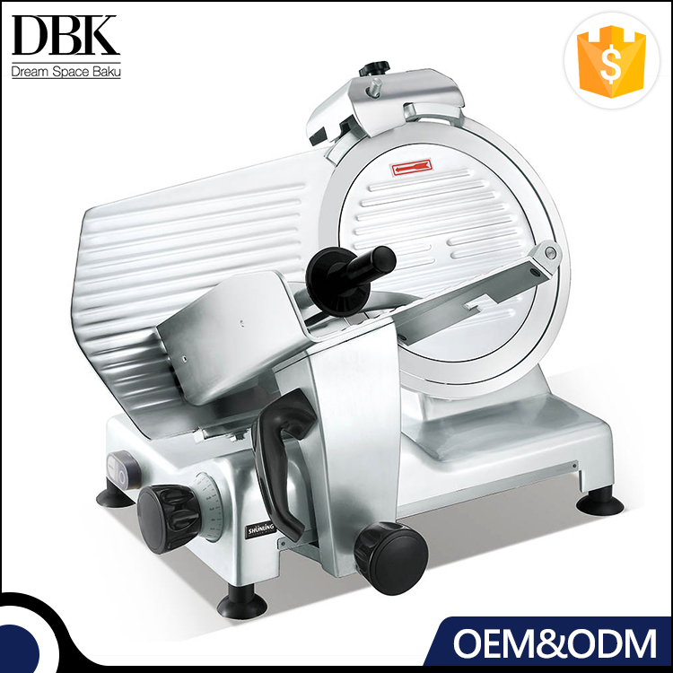 Restaurant safe and easy to clean Commercial frozen meat slicer with transparent baffle