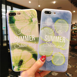 2018 New Arrival Summer Lemon Phone Case for iPhone 8 Plus , For iPhone X Case Fruit