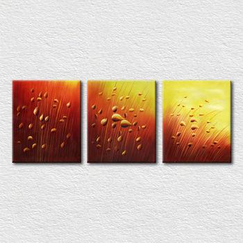 Sederhana Abstrak Lukisan Pemandangan Alam Rumput Gambar Untuk
