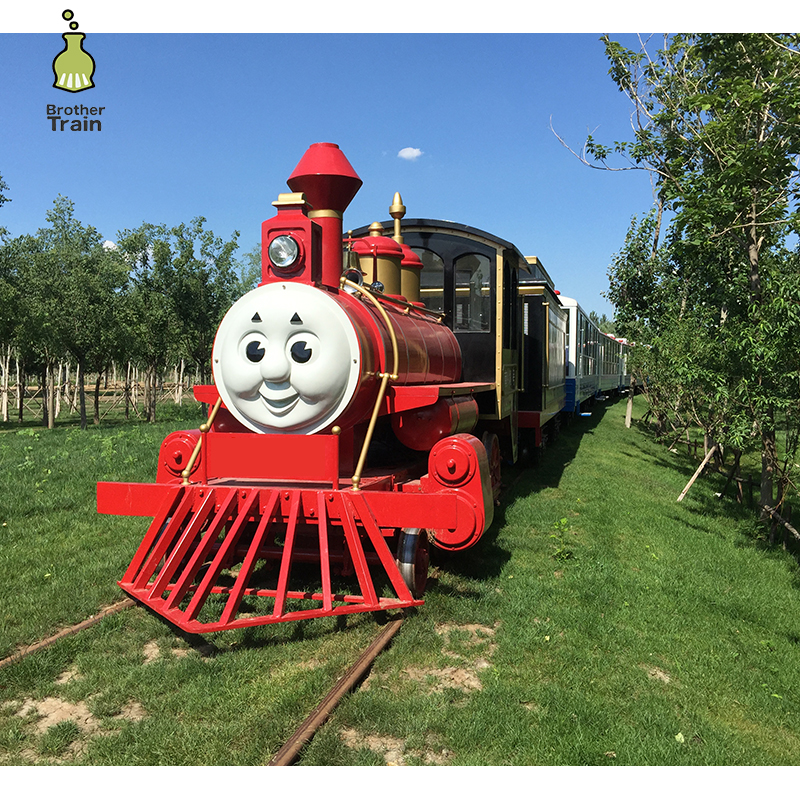 Outdoor metal garden diesel tourist sightseeing track train locomotive electric set