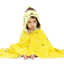 2018 New Design Style Cartoon Polyester Bath Beach Baby Cloak Kids Hooded Poncho Towel