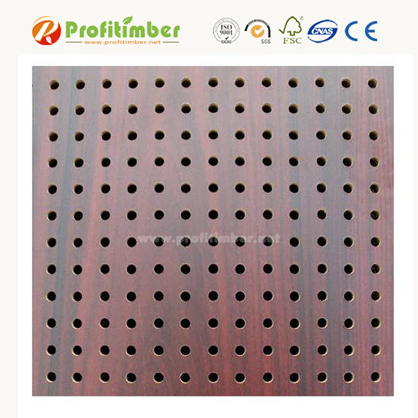 Wooden Fiber Perforated Acoustic Panel