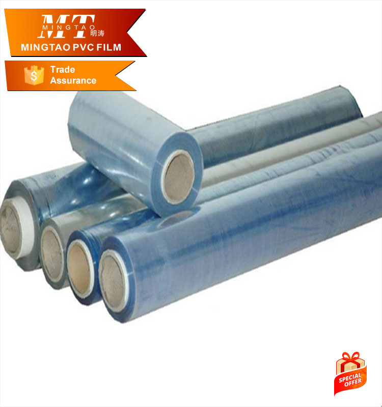 non stick soft hardness pvc film in rolls or pieces