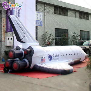 8 Meters high inflatable airplane balloon rocket balloon for space museum